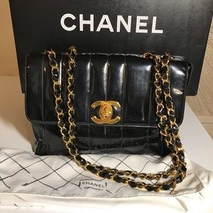 Chanel Patent Leather Jumbo Flap handbag